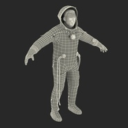 Russian Astronaut Wearing Space Suit Sokol KV2 Rigged for Maya. Preview 56