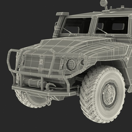 Russian Mobility Vehicle GAZ Tigr M Rigged. Render 87