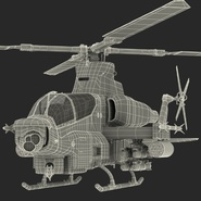 Attack Helicopter Bell AH 1Z Viper Rigged. Preview 95