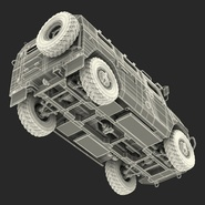 Russian Mobility Vehicle GAZ Tigr M Rigged. Preview 78