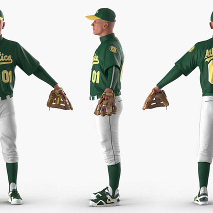 Baseball Player Rigged Athletics for Cinema 4D. Render 5