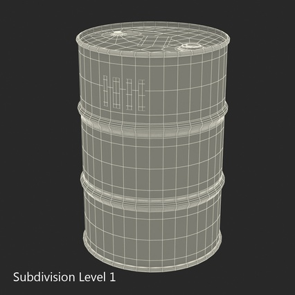 Oil Barrel Shell. Render 13