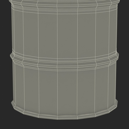 Oil Drum 200l Blue. Render 23