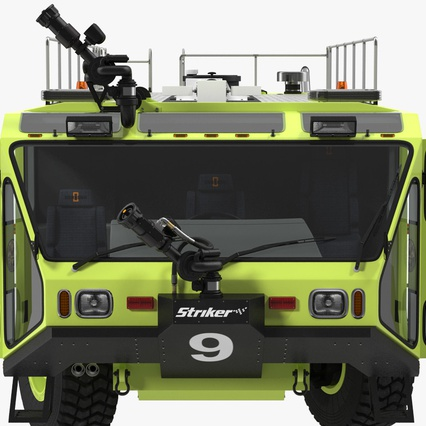 Oshkosh Striker 4500 Aircraft Rescue and Firefighting Vehicle Rigged. Render 14