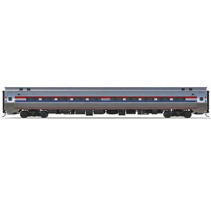 Railroad Amtrak Passenger Car 2. Render 10