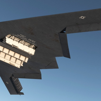 Stealth Bomber B-2 Spirit Rigged. Render 9
