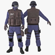 SWAT Policeman Rigged