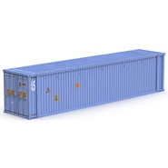 45 ft High Cube Container Blue. Preview 2