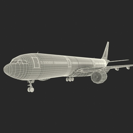 Jet Airliner Airbus A330-300 Emirates Rigged. Render 61