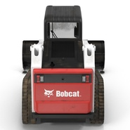 Compact Tracked Loader Bobcat With Blade Rigged. Preview 14