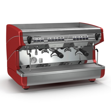 Espresso Machine Simonelli. Render 2