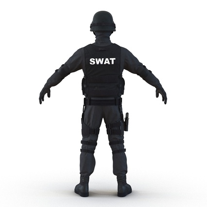 SWAT Man Mediterranean Rigged for Maya. Render 14