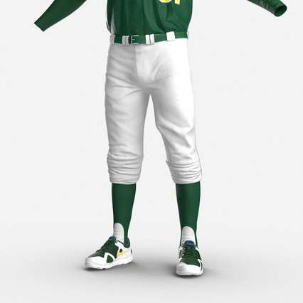 Baseball Player Outfit Athletics 3. Render 17