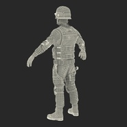 SWAT Man Mediterranean Rigged for Cinema 4D. Preview 51