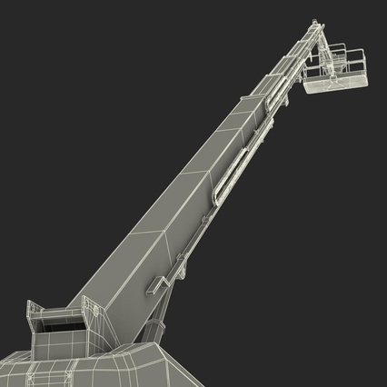 Telescopic Boom Lift Generic 4 Pose 2. Render 86