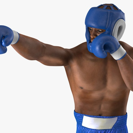 African American Boxer Rigged for Cinema 4D. Render 18