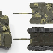 T72 Main Battle Tank Camo Rigged. Preview 10