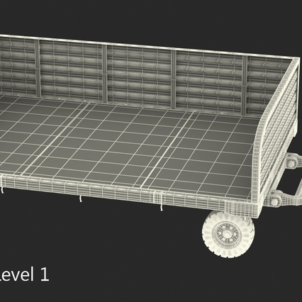 Airport Luggage Trolley Rigged. Render 22