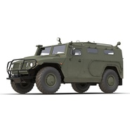 Russian Mobility Vehicle GAZ Tigr M Rigged. Preview 24