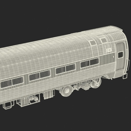 Railroad Amtrak Passenger Car 2. Render 67