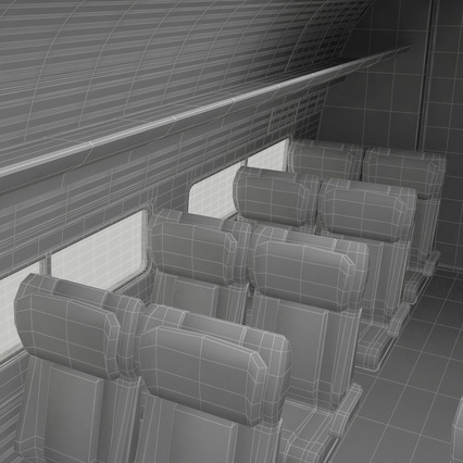 Railroad Amtrak Passenger Car 2. Render 74