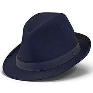 Fedora Hat Blue. Preview 2