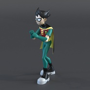 Robin Cartoon Character Rigged for Maya. Preview 2