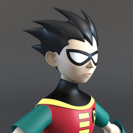 Robin Cartoon Character Rigged for Maya. Render 25