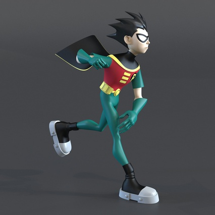 Robin Cartoon Character Rigged for Maya. Render 17