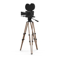 Vintage Video Camera and Tripod. Preview 7