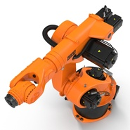 Kuka Robot KR 30-3 Rigged for C4D. Preview 11