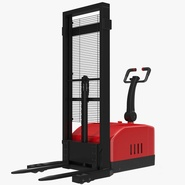 Electric Walkie Stacker Rigged Red