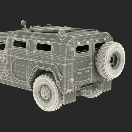 Russian Mobility Vehicle GAZ Tigr M Rigged. Render 83