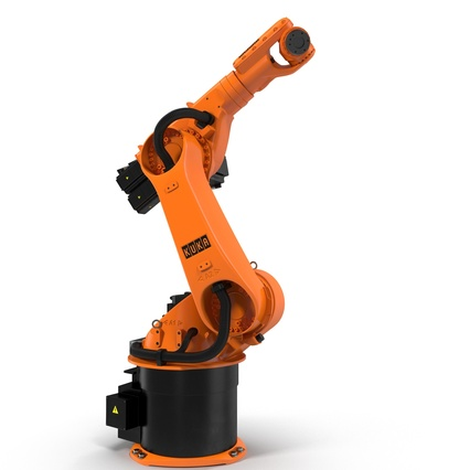 Kuka Robot KR 30-3 Rigged for C4D. Render 4