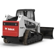 Compact Tracked Loader Bobcat With Blade Rigged. Preview 13
