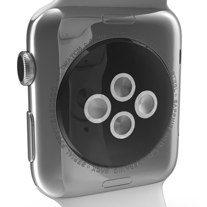 Apple Watch Sport Band White Fluoroelastomer 2. Render 29