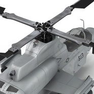 Attack Helicopter Bell AH 1Z Viper Rigged. Preview 65