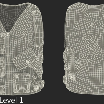 Military Camouflage Vest. Render 11
