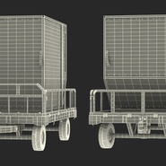 Airport Luggage Trolley Baggage Trailer with Container. Preview 32