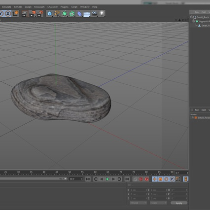 Small Rock. Render 17