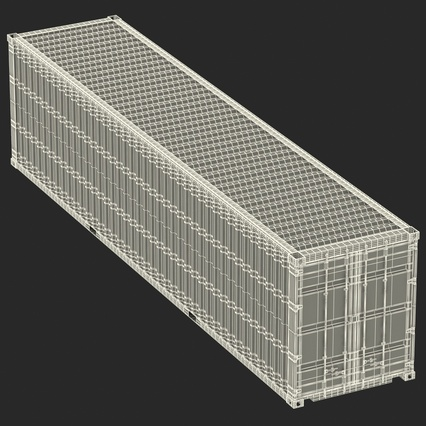 40 ft High Cube Container White. Render 42