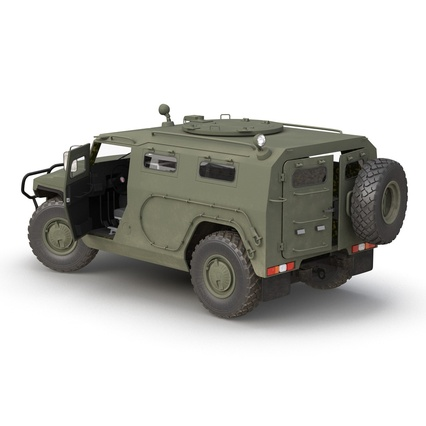 Russian Mobility Vehicle GAZ Tigr M Rigged. Render 12