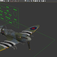 Royal Air Force Fighter Supermarine Spitfire LF Mk IX Rigged. Preview 25