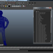 Worker Black Uniform with Hardhat Standing Pose. Preview 23