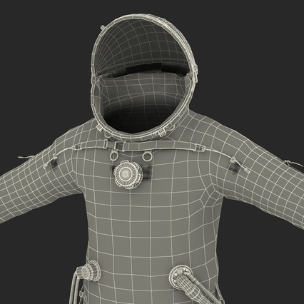 Russian Space Suit Sokol KV2 Rigged. Render 67