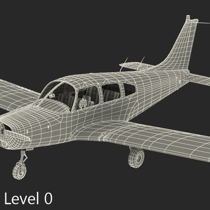 Piper PA-28-161 Cherokee Rigged. Render 23
