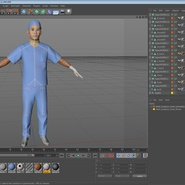 Male Surgeon Asian Rigged with Blood 2 for Cinema 4D. Preview 37