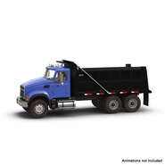 Dump Truck Mack Rigged. Preview 4