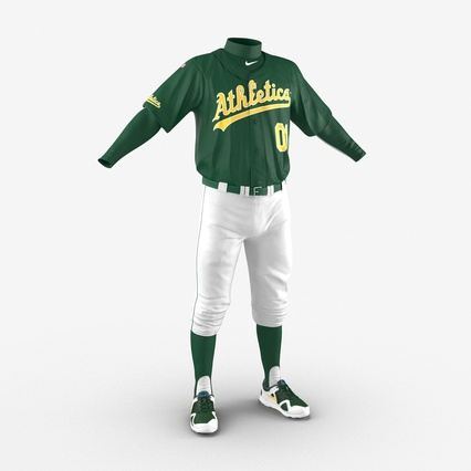 Baseball Player Outfit Athletics 3. Render 10