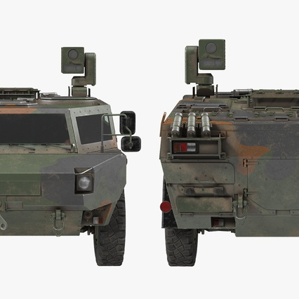 Fennek German Reconnaissance Vehicle Rigged. Render 26